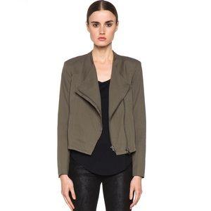 Helmut Lang cotton drape Moto jacket